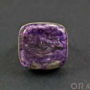 Shop Charoite Rings! Sterling Silver Charoite Ring Size 7 | Natural genuine Charoite rings, simple unique handcrafted gemstone rings. #rings #jewelry #shopping #gift #handmade #fashion #style #affiliate #ad