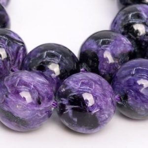 Shop Charoite Round Beads! 16 Pcs – 12MM Dark Color Charoite Beads Russia Grade AA Genuine Natural Round Gemstone Loose Beads (108977) | Natural genuine round Charoite beads for beading and jewelry making.  #jewelry #beads #beadedjewelry #diyjewelry #jewelrymaking #beadstore #beading #affiliate #ad