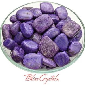 Shop Charoite Stones & Crystals! 1 CHAROITE Tumbled Stone Lrg AAA Quality Stone Healing Crystal and Stone Russia Rare #CT54   Natural genuine stones & crystals in various shapes & sizes. Buy raw cut, tumbled, or polished gemstones for making jewelry or crystal healing energy vibration raising reiki stones. #crystals #gemstones #crystalhealing #crystalsandgemstones #energyhealing #affiliate #ad