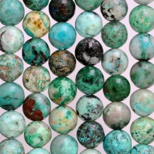 Shop Chrysocolla Round Beads! 10mm Genuine Shattuckite Chrysocolla Quantum Quattro Gemstone Grade A Round Loose Beads 7.5 inch Half Strand (80005220 H-455) | Natural genuine round Chrysocolla beads for beading and jewelry making.  #jewelry #beads #beadedjewelry #diyjewelry #jewelrymaking #beadstore #beading #affiliate #ad
