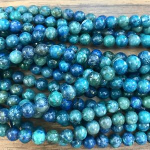 Shop Chrysocolla Round Beads! Natural Chrysocolla 6mm 8mm 10mm 12mm Round Gemstone Bead–15 inch strand- | Natural genuine round Chrysocolla beads for beading and jewelry making.  #jewelry #beads #beadedjewelry #diyjewelry #jewelrymaking #beadstore #beading #affiliate #ad