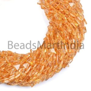 Shop Citrine Bead Shapes! Citrine Plain Trillion Beads, Trillion Shape Beads, Citrine Beads, Plain Trillion Beads, Smooth Beads, Citrine Wholesale Beads | Natural genuine other-shape Citrine beads for beading and jewelry making.  #jewelry #beads #beadedjewelry #diyjewelry #jewelrymaking #beadstore #beading #affiliate #ad