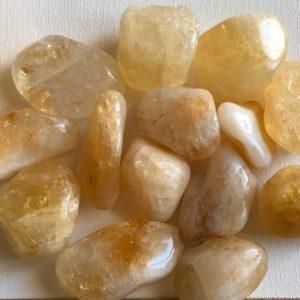 "Shop Tumbled Citrine Crystals & Pocket Stones! Citrine ""a"" Extra Large Tumbled Stone, Healing Crystals, Healing Stones, Spiritual Stone, Gemstone 