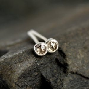Shop Diamond Earrings! Rose Cut Irregular Shape Brown Diamond Studs. Diamond Stud Earrings. Genuine Diamond Earrings. Natural Brown Diamond Earrings.   Natural genuine Diamond earrings. Buy crystal jewelry, handmade handcrafted artisan jewelry for women.  Unique handmade gift ideas. #jewelry #beadedearrings #beadedjewelry #gift #shopping #handmadejewelry #fashion #style #product #earrings #affiliate #ad