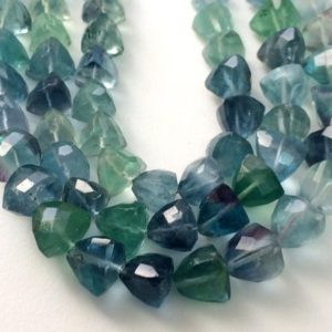 Shop Fluorite Faceted Beads! 10mm Fluorite Beads, Aqua And Green Fluorite Faceted Trillion Beads, Fluorite Trillion, Fluorite For Jewelry (4IN To 8IN Options) – KRS356 | Natural genuine faceted Fluorite beads for beading and jewelry making.  #jewelry #beads #beadedjewelry #diyjewelry #jewelrymaking #beadstore #beading #affiliate #ad