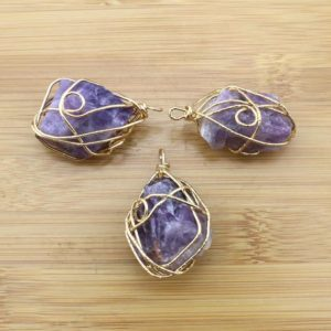 Shop Fluorite Pendants! Natural Purple Crystal Stone  Pendant with golden Electroplated Edges Nature  fluorite Druzy pendant for necklace, –DIY Jewelry-TR024 | Natural genuine Fluorite pendants. Buy crystal jewelry, handmade handcrafted artisan jewelry for women.  Unique handmade gift ideas. #jewelry #beadedpendants #beadedjewelry #gift #shopping #handmadejewelry #fashion #style #product #pendants #affiliate #ad