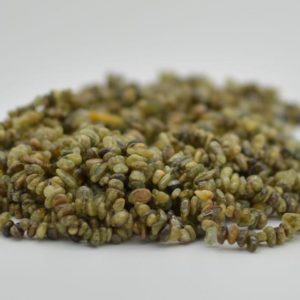 """Shop Garnet Chip & Nugget Beads! High Quality Grade A Natural Green Garnet Semi-precious Gemstone Chips Nuggets Beads – 5mm – 8mm, approx 36"""" Strand 