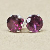 Garnet Earrings, 5mm Gemstone Sterling Silver Jewelry Studs | Natural genuine Gemstone jewelry. Buy crystal jewelry, handmade handcrafted artisan jewelry for women.  Unique handmade gift ideas. #jewelry #beadedjewelry #beadedjewelry #gift #shopping #handmadejewelry #fashion #style #product #jewelry #affiliate #ad