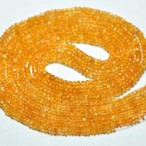 Shop Garnet Faceted Beads! 16.5 Inches Strand Natural Orange Garnet Rondelle 2.5mm to 3.5mm Faceted Rondelle Gemstone Beads AAA Orange Garnet Beads Rondelle No3795   Natural genuine faceted Garnet beads for beading and jewelry making.  #jewelry #beads #beadedjewelry #diyjewelry #jewelrymaking #beadstore #beading #affiliate #ad
