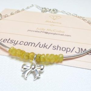 Shop Yellow Sapphire Bracelets! Gemstone Bracelet – Fancy Yellow Sapphire Sterling Silver Bracelet.  Sapphire Jewellery –   Birthstone Jewellery –  Anniversary Gift. | Natural genuine Yellow Sapphire bracelets. Buy crystal jewelry, handmade handcrafted artisan jewelry for women.  Unique handmade gift ideas. #jewelry #beadedbracelets #beadedjewelry #gift #shopping #handmadejewelry #fashion #style #product #bracelets #affiliate #ad