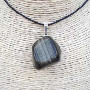 Shop Golden Obsidian Pendants! Golden Obsidian pendant – Natural rolled stone | Natural genuine Golden Obsidian pendants. Buy crystal jewelry, handmade handcrafted artisan jewelry for women.  Unique handmade gift ideas. #jewelry #beadedpendants #beadedjewelry #gift #shopping #handmadejewelry #fashion #style #product #pendants #affiliate #ad