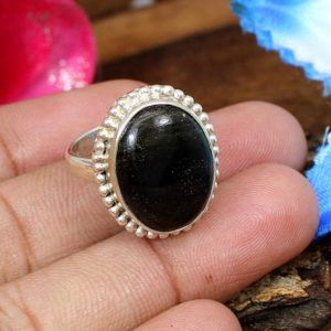 Shop Golden Obsidian Rings! Golden Sheen Obsidian Ring, 925 Sterling Silver Ring, Bezel Silver Ring, Handmade Ring, Gift for Her,Unisex Ring, Silver Obsidian Ring | Natural genuine Golden Obsidian rings, simple unique handcrafted gemstone rings. #rings #jewelry #shopping #gift #handmade #fashion #style #affiliate #ad