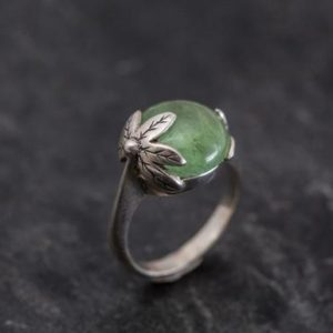 Shop Green Tourmaline Rings! Tourmaline Leaf Ring, Tourmaline Ring, Green Tourmaline, Vintage Rings, Natural Tourmaline, October Birthstone, Solid Silver, Tourmaline | Natural genuine Green Tourmaline rings, simple unique handcrafted gemstone rings. #rings #jewelry #shopping #gift #handmade #fashion #style #affiliate #ad