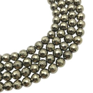 Shop Hematite Faceted Beads! 10mm Faceted Gold Hematite Beads, Round Hematite Beads, Hemaite Jewelry | Natural genuine faceted Hematite beads for beading and jewelry making.  #jewelry #beads #beadedjewelry #diyjewelry #jewelrymaking #beadstore #beading #affiliate #ad
