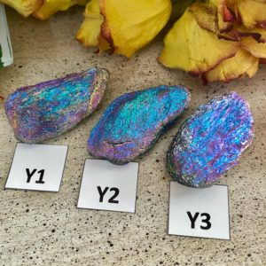 Shop Raw & Rough Hematite Stones! One Specular Hematite, Flame Aura, Titanium Plated Specimen From Michigan | Natural genuine stones & crystals in various shapes & sizes. Buy raw cut, tumbled, or polished gemstones for making jewelry or crystal healing energy vibration raising reiki stones. #crystals #gemstones #crystalhealing #crystalsandgemstones #energyhealing #affiliate #ad