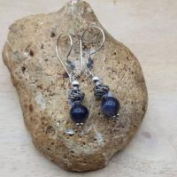Iolite Earrings. Bali Silver Beads. Reiki Jewelry Uk. 21st Anniversary Gemstone | Natural genuine Gemstone jewelry. Buy crystal jewelry, handmade handcrafted artisan jewelry for women.  Unique handmade gift ideas. #jewelry #beadedjewelry #beadedjewelry #gift #shopping #handmadejewelry #fashion #style #product #jewelry #affiliate #ad