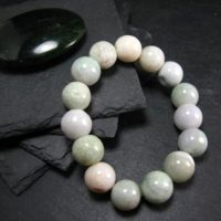 Jade Jadeite Genuine Bracelet ~ 7 Inches ~ 13mm Round Beads | Natural genuine Gemstone jewelry. Buy crystal jewelry, handmade handcrafted artisan jewelry for women.  Unique handmade gift ideas. #jewelry #beadedjewelry #beadedjewelry #gift #shopping #handmadejewelry #fashion #style #product #jewelry #affiliate #ad