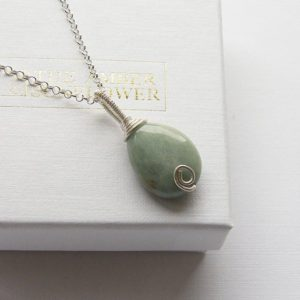 Shop Jade Pendants! Green jade necklace jadeite silver pendant jadeite wire wrapped jewellery sterling silver teardrop pendant jadeite pendant jadeite necklace | Natural genuine Jade pendants. Buy crystal jewelry, handmade handcrafted artisan jewelry for women.  Unique handmade gift ideas. #jewelry #beadedpendants #beadedjewelry #gift #shopping #handmadejewelry #fashion #style #product #pendants #affiliate #ad