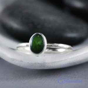 Shop Jade Rings! Delicate Oval Jade Promise Ring, Sterling Silver Jade Ring, Natural Jade Stacking Ring   Moonkist Designs   Natural genuine Jade rings, simple unique handcrafted gemstone rings. #rings #jewelry #shopping #gift #handmade #fashion #style #affiliate #ad