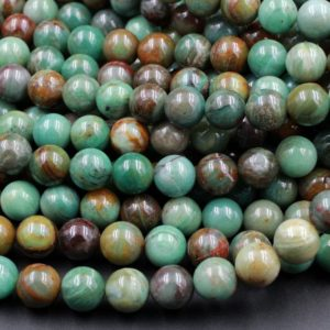"Shop Jasper Beads! Natural Australian Pilbara Green Jasper 6mm 8mm 10mm Round Beads Aka Dragon Stone Earthy Brown Green Jasper 15.5"" Strand 