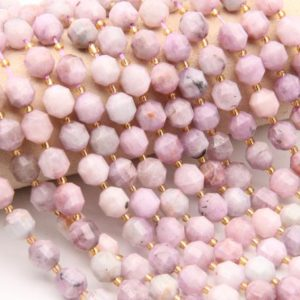 Shop Kunzite Bracelets! Natural Kunzite Beads,Round Faceted Beads,For Jewelry Making Beads,DIY Making Beads,Bracelet/Neckelace Beads,Good Quality Gemstone Beads | Natural genuine Kunzite bracelets. Buy crystal jewelry, handmade handcrafted artisan jewelry for women.  Unique handmade gift ideas. #jewelry #beadedbracelets #beadedjewelry #gift #shopping #handmadejewelry #fashion #style #product #bracelets #affiliate #ad