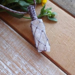 Shop Kunzite Necklaces! Kunzite Crystal necklace / Reiki Healer Spiritual gift idea | Natural genuine Kunzite necklaces. Buy crystal jewelry, handmade handcrafted artisan jewelry for women.  Unique handmade gift ideas. #jewelry #beadednecklaces #beadedjewelry #gift #shopping #handmadejewelry #fashion #style #product #necklaces #affiliate #ad