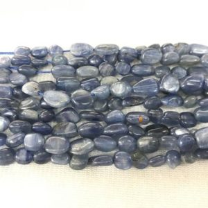 Shop Kyanite Chip & Nugget Beads! Natural Blue Kyanite 5-8mm Nugget Genuine Freeshape Gemstone Loose Beads 15inch Jewelry Supply Bracelet Necklace Material Support Wholesale | Natural genuine chip Kyanite beads for beading and jewelry making.  #jewelry #beads #beadedjewelry #diyjewelry #jewelrymaking #beadstore #beading #affiliate #ad