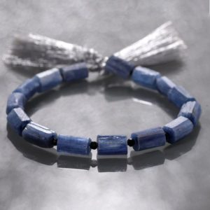 Kyanite tube beads gemstone cylindrical beads 20 cm strand for jewelry making, kyanite gemstone loose beads | Natural genuine other-shape Gemstone beads for beading and jewelry making.  #jewelry #beads #beadedjewelry #diyjewelry #jewelrymaking #beadstore #beading #affiliate #ad