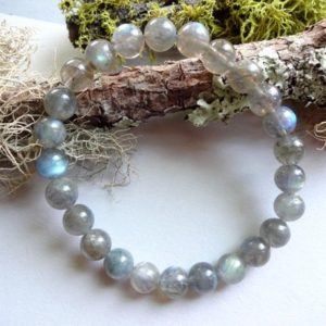 Shop Labradorite Bracelets! Delicate Blue Labradorite bracelet | Natural genuine Labradorite bracelets. Buy crystal jewelry, handmade handcrafted artisan jewelry for women.  Unique handmade gift ideas. #jewelry #beadedbracelets #beadedjewelry #gift #shopping #handmadejewelry #fashion #style #product #bracelets #affiliate #ad