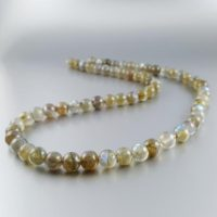 Blue Shining Labradorite Gemstone Necklace Gift For Her | Natural genuine Gemstone jewelry. Buy crystal jewelry, handmade handcrafted artisan jewelry for women.  Unique handmade gift ideas. #jewelry #beadedjewelry #beadedjewelry #gift #shopping #handmadejewelry #fashion #style #product #jewelry #affiliate #ad