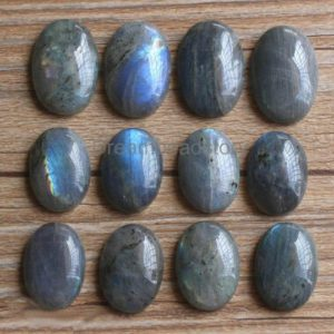 Shop Labradorite Round Beads! Natural Labradorite Gemstone Round/ Oval Cabochons (HX286) | Natural genuine round Labradorite beads for beading and jewelry making.  #jewelry #beads #beadedjewelry #diyjewelry #jewelrymaking #beadstore #beading #affiliate #ad