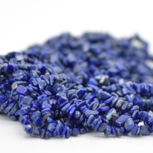 "Shop Lapis Lazuli Chip & Nugget Beads! High Quality Grade A Natural lapis Lazuli Semi-precious Gemstone Chips Nuggets Beads – 5mm – 8mm, approx 36"" Strand 