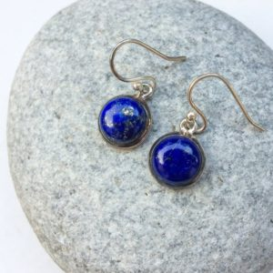 Shop Lapis Lazuli Earrings! Lapis earrings, Lapis silver earrings, dangle gemstone earrings, sterling silver earrings, Blue stone, Natural Lapis lazuli, Gift for her | Natural genuine Lapis Lazuli earrings. Buy crystal jewelry, handmade handcrafted artisan jewelry for women.  Unique handmade gift ideas. #jewelry #beadedearrings #beadedjewelry #gift #shopping #handmadejewelry #fashion #style #product #earrings #affiliate #ad