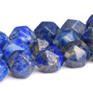 Shop Lapis Lazuli Faceted Beads! Blue Lapis Lazuli Beads Star Cut Faceted Grade A Natural Gemstone Loose Beads 5-6MM 7-8MM 9-10MM Bulk Lot Options | Natural genuine faceted Lapis Lazuli beads for beading and jewelry making.  #jewelry #beads #beadedjewelry #diyjewelry #jewelrymaking #beadstore #beading #affiliate #ad