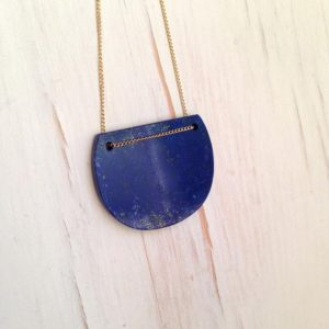 Lapis Necklace Lapis Slab Necklace Geometric Necklace Lapis Jewelry Lapis Luzuli Necklace | Natural genuine Gemstone necklaces. Buy crystal jewelry, handmade handcrafted artisan jewelry for women.  Unique handmade gift ideas. #jewelry #beadednecklaces #beadedjewelry #gift #shopping #handmadejewelry #fashion #style #product #necklaces #affiliate #ad