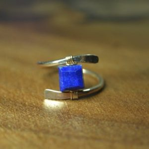 Shop Lapis Lazuli Rings! Lapis Lazuli Ring in Sterling Silver, 14k Gold Fill // December Birthstone // bohochic Gemstone Ring // Healing Crystal // Throat Chakra | Natural genuine Lapis Lazuli rings, simple unique handcrafted gemstone rings. #rings #jewelry #shopping #gift #handmade #fashion #style #affiliate #ad