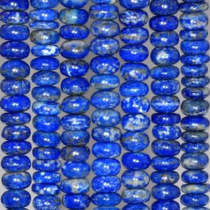 Shop Lapis Lazuli Rondelle Beads! 8x4mm Lapis Lazuli Gemstone Grade A Blue Rondelle 8x4mm Loose Beads 15.5 inch Full Strand (90188810-82) | Natural genuine rondelle Lapis Lazuli beads for beading and jewelry making.  #jewelry #beads #beadedjewelry #diyjewelry #jewelrymaking #beadstore #beading #affiliate #ad