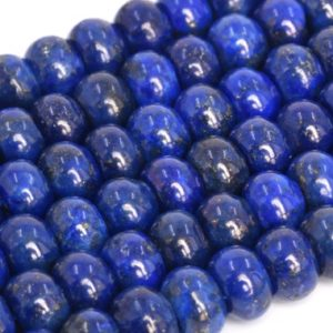 Shop Lapis Lazuli Beads! Natural Blue Lapis Lazuli Loose Beads Grade A Rondelle Shape 6x4mm 8x5mm 10x6mm 12x6mm | Natural genuine beads Lapis Lazuli beads for beading and jewelry making.  #jewelry #beads #beadedjewelry #diyjewelry #jewelrymaking #beadstore #beading #affiliate #ad
