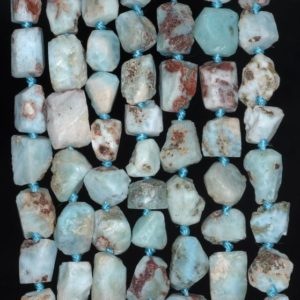 Shop Larimar Chip & Nugget Beads! 12X10-9X7MM  Larimar Gemstone Grade AA Rough Nugget Pebble Loose Beads 8 inch Half Strand (80003331-B89) | Natural genuine chip Larimar beads for beading and jewelry making.  #jewelry #beads #beadedjewelry #diyjewelry #jewelrymaking #beadstore #beading #affiliate #ad