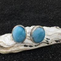Simply Stunning: Larimar And Sterling Silver Earrings (e-1) | Natural genuine Gemstone jewelry. Buy crystal jewelry, handmade handcrafted artisan jewelry for women.  Unique handmade gift ideas. #jewelry #beadedjewelry #beadedjewelry #gift #shopping #handmadejewelry #fashion #style #product #jewelry #affiliate #ad