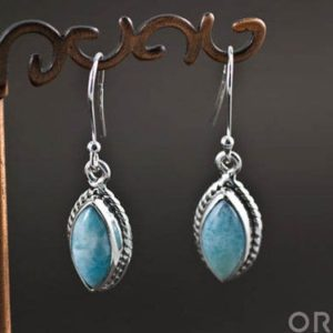 Shop Larimar Earrings! Sterling Silver Larimar Earrings   Natural genuine Larimar earrings. Buy crystal jewelry, handmade handcrafted artisan jewelry for women.  Unique handmade gift ideas. #jewelry #beadedearrings #beadedjewelry #gift #shopping #handmadejewelry #fashion #style #product #earrings #affiliate #ad