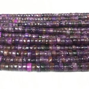 Shop Lepidolite Bead Shapes! Lepidolite 4mm – 8mm Heishi Purple Dyed Gemstone Loose Beads Grade AB 15 inch Jewelry Supply Bracelet Necklace Material Support Wholesale | Natural genuine other-shape Lepidolite beads for beading and jewelry making.  #jewelry #beads #beadedjewelry #diyjewelry #jewelrymaking #beadstore #beading #affiliate #ad