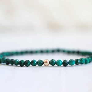 Shop Malachite Jewelry! Dainty Malachite Bracelet | Mini Faceted Gemstone Bracelet | Malachite jewelry | Malachite stacking bracelet | 4mm Beaded Bracelet | Natural genuine Malachite jewelry. Buy crystal jewelry, handmade handcrafted artisan jewelry for women.  Unique handmade gift ideas. #jewelry #beadedjewelry #beadedjewelry #gift #shopping #handmadejewelry #fashion #style #product #jewelry #affiliate #ad