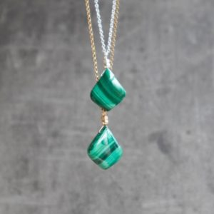 Shop Malachite Pendants! Malachite Necklace, Green Stone Necklace, Malachite Jewelry, Gemstone Necklaces for Women, Malachite Pendant, Gift for Her, Gift for Mum | Natural genuine Malachite pendants. Buy crystal jewelry, handmade handcrafted artisan jewelry for women.  Unique handmade gift ideas. #jewelry #beadedpendants #beadedjewelry #gift #shopping #handmadejewelry #fashion #style #product #pendants #affiliate #ad
