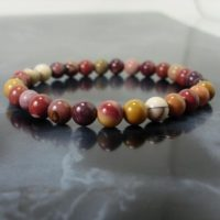 Mookaite Jasper Bracelet 6 Mm, Natural Gemstone Bracelet, Unisex Women Men Bracelet, Australian Jasper Bracelet, Beaded Bracelet | Natural genuine Gemstone jewelry. Buy crystal jewelry, handmade handcrafted artisan jewelry for women.  Unique handmade gift ideas. #jewelry #beadedjewelry #beadedjewelry #gift #shopping #handmadejewelry #fashion #style #product #jewelry #affiliate #ad