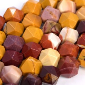 Shop Mookaite Jasper Faceted Beads! Genuine Natural Mookaite Loose Beads Star Cut Faceted Shape 5-6mm 7-8mm | Natural genuine faceted Mookaite Jasper beads for beading and jewelry making.  #jewelry #beads #beadedjewelry #diyjewelry #jewelrymaking #beadstore #beading #affiliate #ad