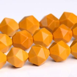 Shop Mookaite Jasper Faceted Beads! Yellow Mookaite Beads Star Cut Faceted Grade AAA Genuine Natural Gemstone Loose Beads 7-8MM 9-10MM Bulk Lot Options | Natural genuine faceted Mookaite Jasper beads for beading and jewelry making.  #jewelry #beads #beadedjewelry #diyjewelry #jewelrymaking #beadstore #beading #affiliate #ad