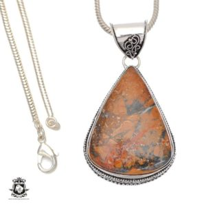 Shop Mookaite Pendants! Intense Color! Brecciated Mookaite Mook Jasper Pendant 4mm Snake Chain V681 | Natural genuine Mookaite pendants. Buy crystal jewelry, handmade handcrafted artisan jewelry for women.  Unique handmade gift ideas. #jewelry #beadedpendants #beadedjewelry #gift #shopping #handmadejewelry #fashion #style #product #pendants #affiliate #ad