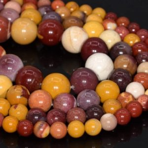 Genuine Natural Mookaite Loose Beads Round Shape 6mm 8mm 10mm 12mm 15mm | Natural genuine round Mookaite beads for beading and jewelry making.  #jewelry #beads #beadedjewelry #diyjewelry #jewelrymaking #beadstore #beading #affiliate #ad
