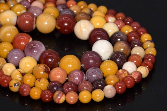 Genuine Natural Mookaite Loose Beads Round Shape 6mm 8mm 10mm 12mm 15mm